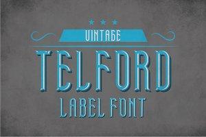 Telford Vintage Label Typeface