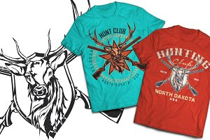 Hunt Club T-shirts And Poster Labels