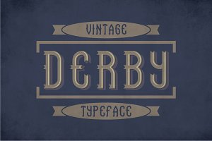Derby Vintage Label Typeface