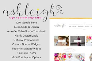 Ashleigh - Feminine WordPress Theme