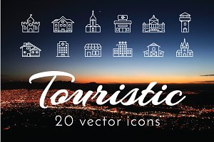 TOURISTIC - vector icons