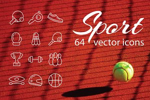 SPORT - vector line icons