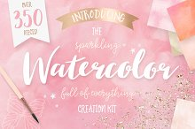 Watercolor Textures Creation Kit