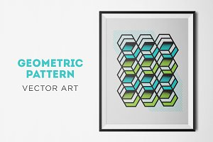 Geometric Print Vector Art