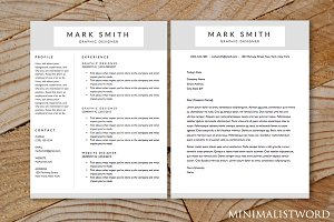 Resume Cover Letter (2Pack) Template