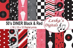 Retro 50's Diner Digital Paper