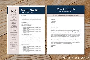2 Pack Resume Cover Letter Template
