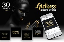 Girlboss Social Media Quotes - SALE