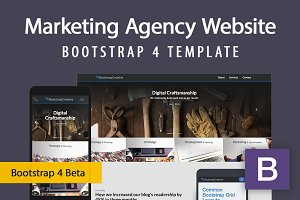Bootstrap 4 Website Theme Template