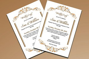Wedding Party Invitation Card