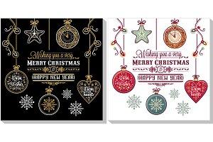 Christmas template. Greeting card.