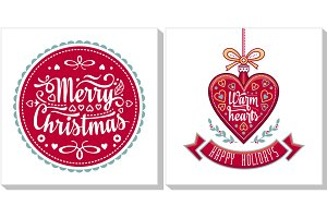 Christmas template. Greeting card.