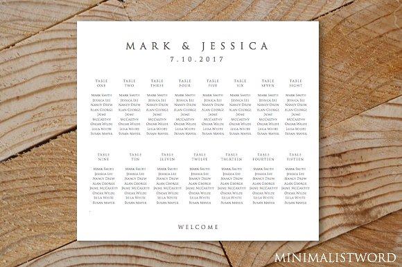Wedding Seating Chart 15 Template
