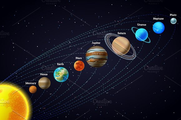 Outer Space & Planets Set in Illustrations - product preview 1
