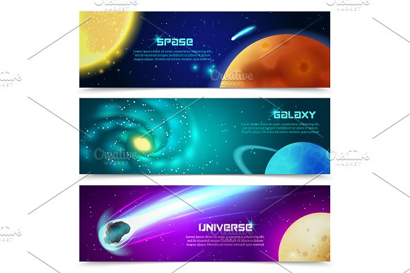 Outer Space & Planets Set in Illustrations - product preview 3