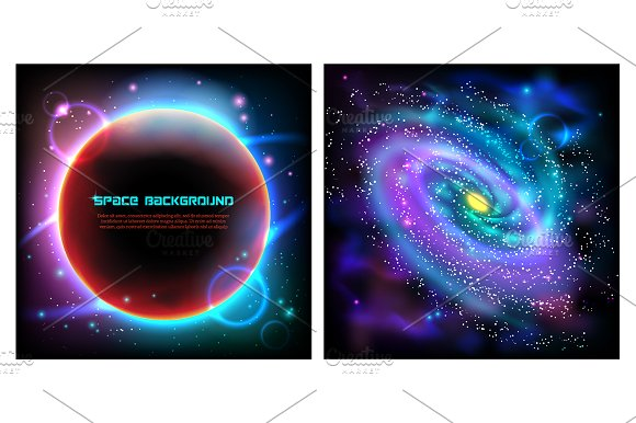 Outer Space & Planets Set in Illustrations - product preview 4