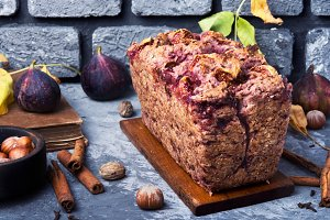 Fruit bread with nuts
