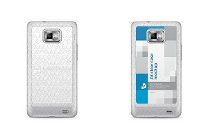 Galaxy S2 2d Clear Phone Case Mockup