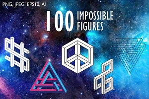 100 impossible figures