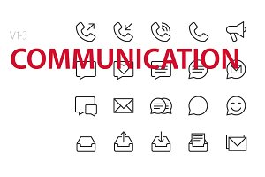 60 Communication UI icons