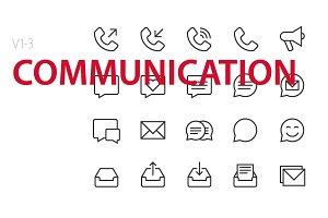 60 Communication UI icons