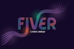 Fiver 5 fonts family