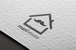 Man House Logo Design