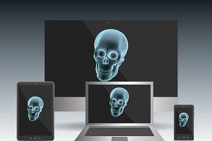 halloween skull computer