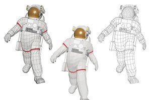 astronaut walking in cool style
