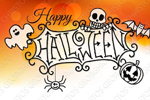 Happy Halloween Sign Background