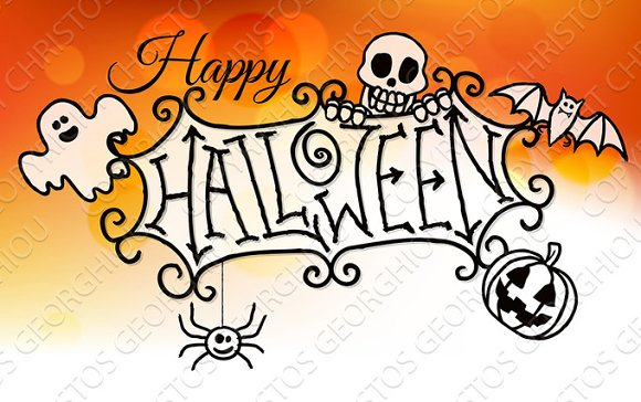 Happy Halloween Sign Background ~ Textures ~ Creative Market