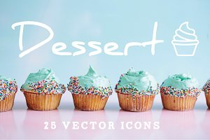 DESSERT - vector line icons