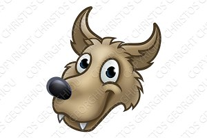 Cartoon Wolf Character Mascot