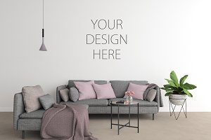 Interior mockup - wall art gallery