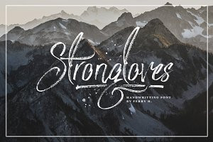 Strongloves - Handwritting Font