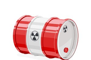 Toxic metal barrel