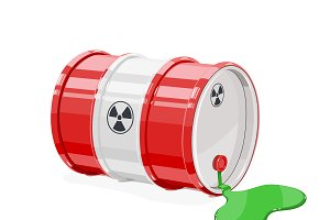Toxic metal barrel with spot