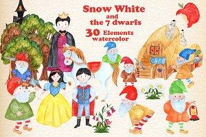 Snow White Princess Clipart