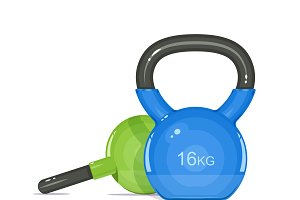 Kettlebells. Equipment for fitness.