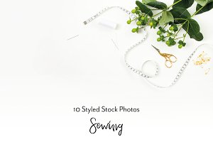 Sewing Styled Stock Photos