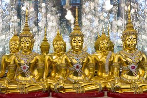 group of Golden Buddha statue
