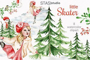 Watercolor Winter Clipart