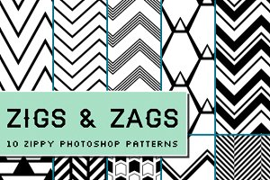 Zigs and Zags: photoshop patterns
