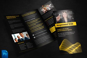 Ampersand Tri Fold Brochure Template