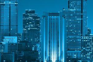 Closeup Bangkok cityscape