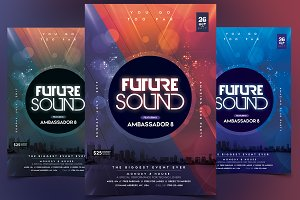 Future Sound - PSD Flyer Template