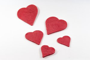 Four heart cookies