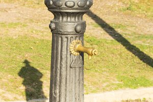 Small drinking fountain