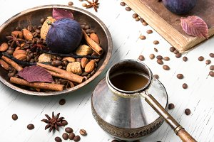 turkish coffee with figs