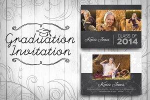 Graduation Invitation - Chalkboard